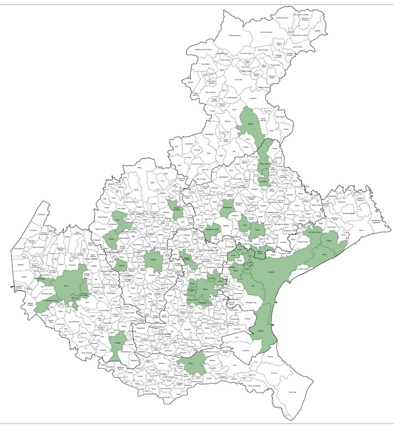 Cartina Comuni Veneto.Regione Veneto Comuni Ad Alta Tensione Abitativa